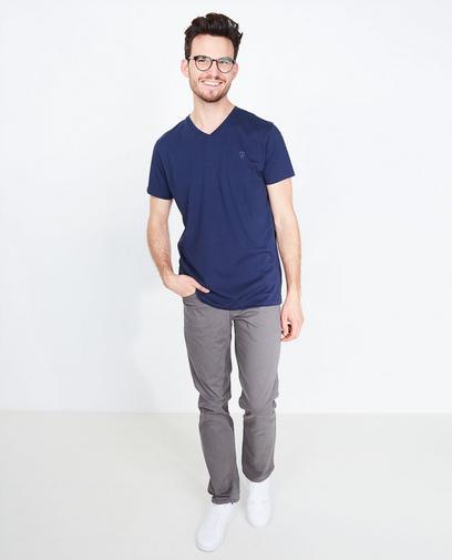 Marineblauw T-shirt
